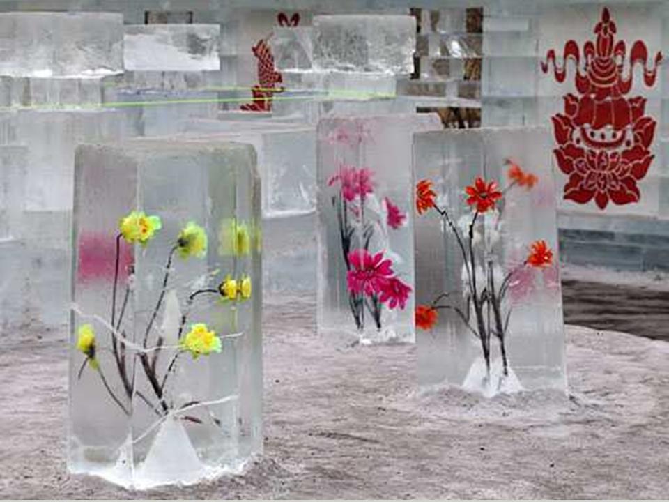 Ледяные фигуры своими руками фото